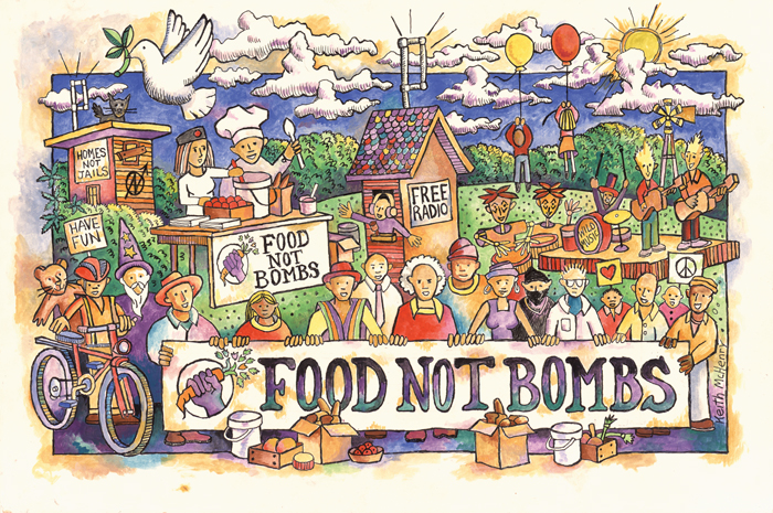 Attractive FOOD NOT BOMBS Amazing Design